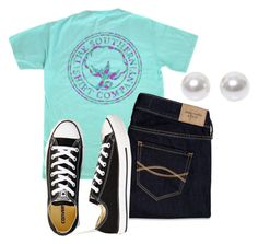 """Make your fears fear you"" by avercatbvb ❤ liked on Polyvore featuring Abercrombie & Fitch, Nouv-Elle and Converse"