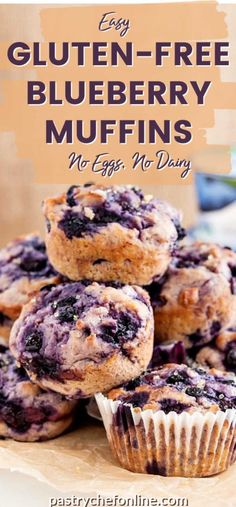These moist and flavorful gluten free, egg free, dairy free blueberry muffins are made with Silk Non-Dairy Yogurt Alternative. Gluten Free Party Food, Gluten Free Recipes For Kids, Gluten Free Baking, Healthy Dessert Recipes, Breakfast Recipes, Scone Recipes, Vegetarian Breakfast, Muffin Recipes, Brunch Recipes
