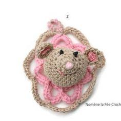Enfant-bébé, mes créas Un Grand Marché · Mini cadre, petit trophée animal,  applique lapin ou ours au choix, amigurumi, c6191698fd5