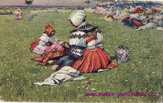 Žena ze Svatobořic s dítětem na pouti