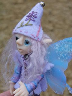 OOAK Handmade Polymer Clay Poseable Fairie by Woodlandkreatures, $49.50