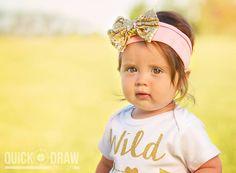 First Birthday | Little Girl Portrait Photography | www.Quick-DrawDesign.com