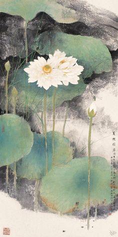 """""""Lin Decai(林 德才 Chinese, b.1948) 夏憩图 镜心 设色纸本 """""""