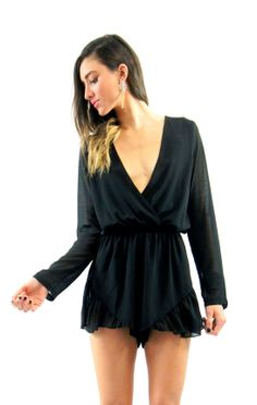 Pipi's Boutique - His Girl Chiffon Playsuit - Black, $59.95 (http://www.pipisboutique.com/his-girl-chiffon-playsuit-black/)