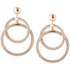 Golden Statement Alloy Round Hoop Drop Earrings ($4.50) ❤ liked on Polyvore featuring jewelry, earrings, golden earring, earring jewelry, round drop earrings, golden jewelry and golden jewellery