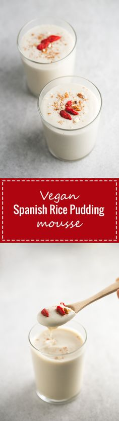 (Vegan and GF) If I had to eat only one dessert for the rest of my life, I would choose this vegan Spanish rice pudding mousse, it's my all-time favorite sweet recipe.