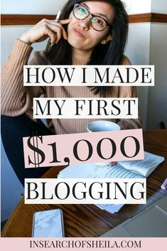 Struggling to make money with your blog? Want to turn it into a business? Click here to learn how I made my first $1,000 with my blog and which income streams are best for making money blogging. | blogging for business tips | blogging and business tips | business tips for women | entrepreneur tips | how to make money online