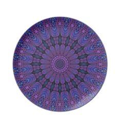Purple Harmony Design Dinner Plates