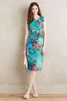 Violets are blue || The Vanda Pencil Dress by Maeve #anthropologie #fashion  #