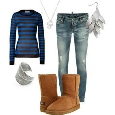#UGG #Boots,#cheap #ugg, #fashion #ugg, #SHEEPSKIN #UGG #BOOTS, #xmas #gifts Ugg Outfit, created by mkk0129 on Polyvore #ugg #cyberweek #xmas_present #xmas_gifts #sunglasses #fashion #oakley