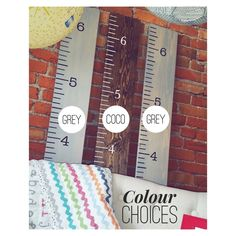 Colour choices for Hamptons Nook hand painted growth charts!