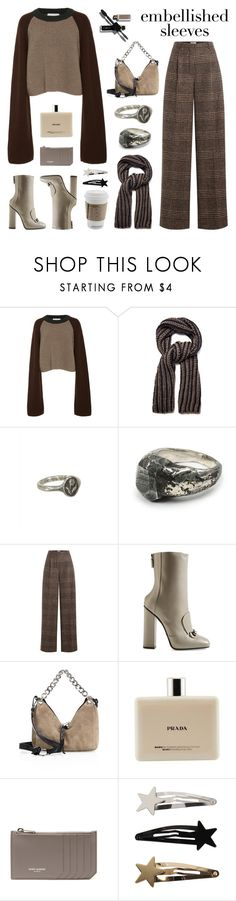 """Make a Statement: Embellished Sleeves"" by deepwinter ❤ liked on Polyvore featuring Weekend Max Mara, Pyrrha, Lee Brennan Design, Sonia Rykiel, Gucci, Jimmy Choo, Prada, Yves Saint Laurent and embellishedsleeves"