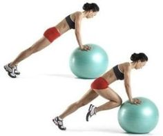 Stability ball mountain climbers... YES.  This adds cardio to core strength:)  Whenever you add cardio along with your weight workout, youre giving yourself the best exercise you can and getting the most from your workout! fit-strong-healthy-invincible by malinda