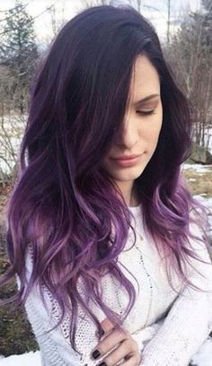 Ombre Hair and Purple Ombre Surely you have noticed how popular purple ombre can be. And today we will talk about what shades of hair purple ombre combine. We will also discuss how to create a purp… Hair Color Purple, Cool Hair Color, Ombre Colour, Brown Hair With Purple Highlights, Purple Brown Hair, Dark Violet Hair, Violet Ombre, Violet Hair Colors, Burgundy Hair