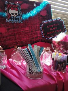 """Photo 17 of 24: Spa Party / Birthday """"Kiersten Monster High Spa Party"""" 