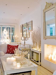 White branches in glass on table Christmas Room, White Christmas, Christmas Holidays, Christmas Decorations, Christmas Ideas, Holiday Decorating, Holiday Ideas, Christmas Goodies, Merry Christmas