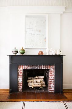 fireplace styling. | domino.com