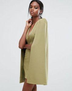 982c4cde6b Lavish Alice Cape Mini Dress With Split Back Lavish Alice