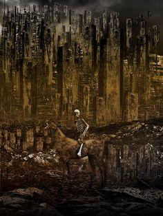 Disturbing and Provocative Art : Photo Science Fiction Art, Science Art, Don't Fear The Reaper, Macabre Art, Triomphe, Creepy Art, Scary, Fantastic Art, Wildlife Art