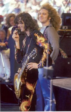 Robert Plant and Jimmy Page Led Zeppelin in Oakland - 1977