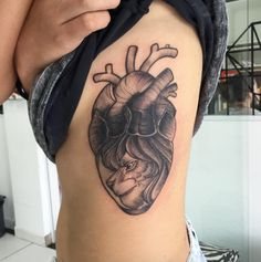 Lion Heart Tattoo by Paulinho - TATTOOBLEND