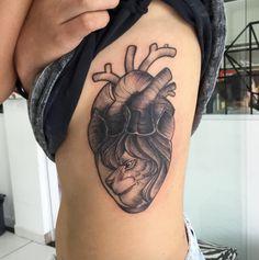 Lion Heart Tattoo by Paulinho - TATTOOBLEND