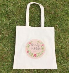 Bible Verse Bag Beauty For Ashes Bible Tote Bag by purpleheartuk