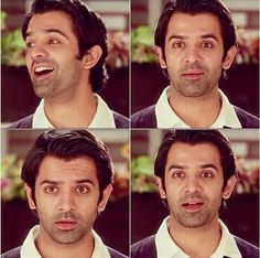 """His expression in this scene changed so drastically. It was hilarious. *laughing* and two seconds later in a totally serious tone """"I don""""t cheat"""" Arnav Singh Raizada, Arnav And Khushi, Love Him, My Love, Sanaya Irani, Tv Actors, Bollywood Celebrities, Celebrity Crush, Photo Editing"""