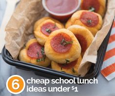 These fun and healthy ideas cost a $1 or less to make. Your kids and wallet will love them!