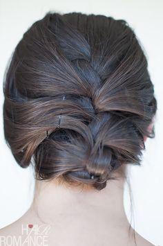 Hair Romance - French braid upstyle