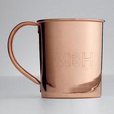 monogram moscow mule mug. um, duh, everyone needs these.