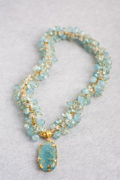 aquamarine and gold