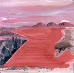 Gerda Ten Thije, Red river, 2005 acryl-, olieverf en gelcoarse op doek 45 x 45 cm  coderood.co 27 juni 2015