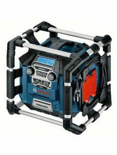 Bosch Jobsite Radio - http://www.hall-fast.com/-hand-tools/-power-tools-/other-powered-tools/radio-cordless/bosch-jobsite-radio/