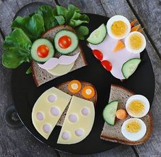 These features describe comfort food addiction. Helthy Snacks, Cute Food, Good Food, Healthy Fruit Snacks, Food Art For Kids, Bread Art, Fruits For Kids, Boite A Lunch, Food Humor