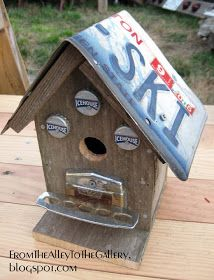 From The Alley To The Gallery: Bird Houses for Fresh Paint. Found items birdhouses.