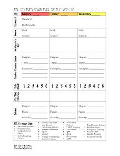 elementary lesson plan template word