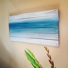 Sea Inspired Pallet Painting by DriftDesignsx on Etsy, - Shirdi's Art - Dekoration Pallet Painting, Pallet Art, Pallet Projects Signs, Driftwood Projects, Pallet Signs, Wal Art, Simple Artwork, Bedroom Crafts, Beach Signs