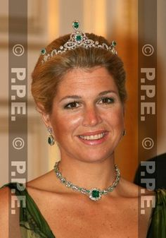 Princess Maxima of the Netherlands in emerald parure