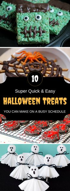 Wow these quick and easy halloween treats are super creative and seriously delish! Anyone can make them and they only take a few minutes to make!
