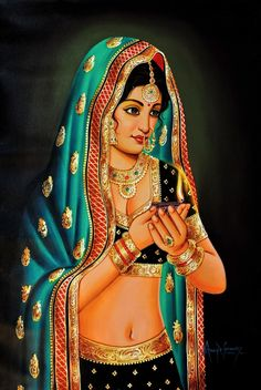 dzaira: Lady with the Lamp Artist: Anup Gomay