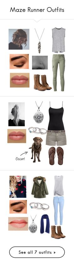 """""""Maze Runner Outfits"""" by nerd-alert-23 ❤ liked on Polyvore featuring rag & bone, J Brand, H&M, Best Mountain, Abercrombie & Fitch, With Love From CA, Current/Elliott, 2nd Day, Beautiful People and Converse"""