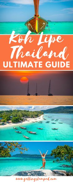 Completely updated 2017 Koh Lipe Thailand Guide. How to get to Koh Lipe, ferry schedule, best Lipe hotels, restaurants, beaches, things to do in Koh Lipe, and a Koh Lipe map 100% updated for 2017-2018 || Getting Stamped - Couple Travel & Photography Blog