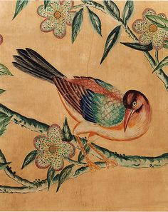 18c Handpainted Chinese Wallpaper