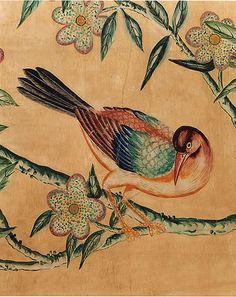 18c Handpainted Chinese Wallpaper