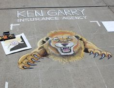 This is the square my dad sponsored for the Chalk it Up sidewalk art festival last year. It was amazing!