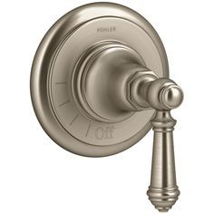 Kohler K-T72771-4 Artifacts Volume Control Valve Trim with Lever Handle Product Features: Fully covered under Kohler's limited lifetime warranty Trim constructed of metal – ensuring durability and providing aesthetic appeal Premier finishing process – finishes will resist rusting and corrosion through every day use Single function cartridge – one dial controls volume only ADA compliant – meets standards set forth by the Americans with Disabilities Act Secure mounting assembly Brushed Nickel Faucet, Polished Nickel, Kohler Artifacts, Wall Hung Toilet, Shower Diverter, Control Valves, Oil Rubbed Bronze, Kitchen And Bath, Door Handles
