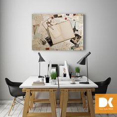 Çalışma odanızda kanvas tabloyla vintage etkisi