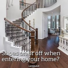 When it comes to inside the home, what's your preference?! Shoes off or on? Let us know! http://spr.ly/626285xEj