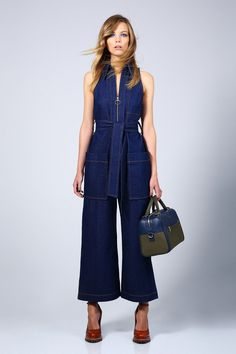 Karen Walker Aeronautical Jumpsuit $450, Adriana Shoe $375 and Benah for Karen Walker Audrey Duffle Bag $595